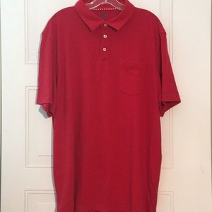 Men's Red Izod Saltwater polo shirt